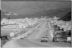 WAINUIOMATA, Lower Hutt - 27 October 1964 - main thoroughfare and housing - taken by an unidentified Evening Post staff photographer. Heavy Equipment, British Isles, Old Photos, New Zealand, Maine, Old Pictures, Vintage Photos