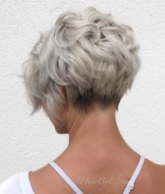 50 Trendiest Short Blonde Hairstyles and Haircuts Ash Blonde Curly Pixie Bob Blond Hairstyles, Short Blonde Haircuts, Bob Haircuts For Women, Short Hair Cuts For Women, Short Curly Hair, Curly Hair Styles, Short Wavy, Short Curled Bob, Curly Bob Haircuts