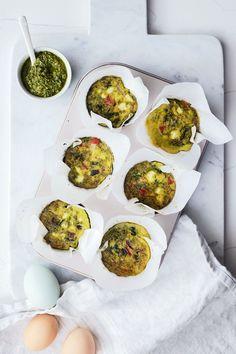 Easy Pesto Egg Muffins