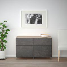 IKEA BESTA Black-Brown Kallviken/sularp, Dark Gray Concrete Effect Storage combination w doors/drawers Frame Shelf, Plastic Foil, Ikea Family, Plastic Drawers, Drawer Runners, Knobs And Handles, Drawer Fronts, Interior Accessories, Lineup