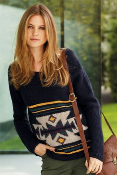 Wool Clothing & Knitwear - Next Aztec Sweater - EziBuy New Zealand