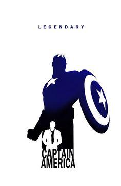 Superhero Silhouette: Captain America