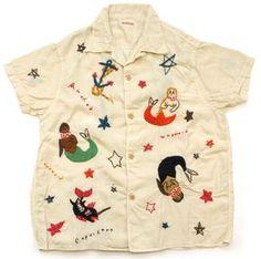 KAPITAL Mermaid Embroidered Shirt: I love this little shirt!!