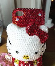 Like Hello Kitty!? A big red Hello Kitty Iphone case! Bling! Bling!