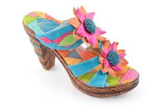cd75371a0 Corkys Elite Keely Bright Flower Slip on High Heel Shoe