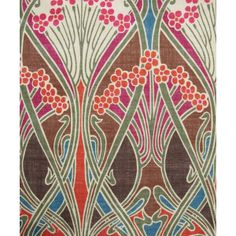 Liberty Furnishing Fabrics Brown Ianthe Print Linen Union ❤ liked on Polyvore