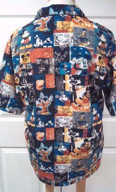 2fb76afd Mens Disneyland Resort Mickey Mouse Shirt L Fantasia Goofy Pluto Donald Duck