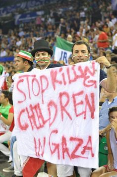 Iranian fans hold a banner in support of the Palestinian people as Iran defeated nine-time winner Brazil to became the first Asian team to make it to the semi-final of the FIVB Volleyball World League. Gaza Strip, Israel Palestine, United We Stand, Freedom Fighters, World Peace, Reality Check, Oppression, Human Rights, Never Give Up