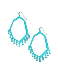 083ecf719 Kendra Scott Thomas Matte Aqua Drop Earrings in Aquamarine Glass - Shop  LavishlyHip.com Cute