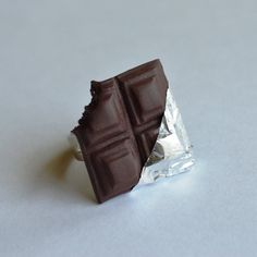 Chocolate bar polymer clay ring by ASweetScaleWorld on Etsy