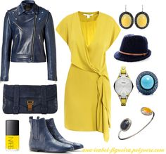 """""""Blue & yellow"""" by ana-isabel-figueira on Polyvore"""