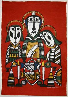 Long before there was the Chinese artist He Qi, there was the Japanese artist Sadao Watanabe, long one of my very favorites. Here is his Emmaus image.
