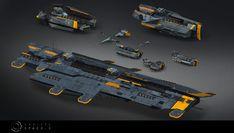 ArtStation - Vaulters fleet, Ronan Berlese