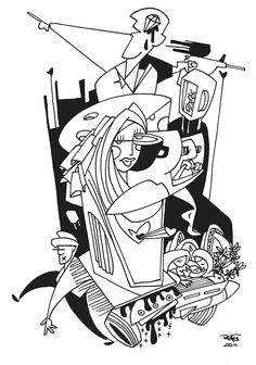 Illustration Chronique of Philosopher Márcia Tiburi - www.vidabreve.com.br