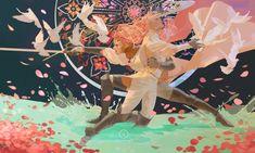 illustration by awanqi Art And Illustration, Arte Inspo, Kunst Inspo, Fantasy Kunst, Fantasy Art, Anime Kunst, Anime Art, Pretty Art, Aesthetic Art