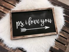 PS I Love You Sign / PS I Love You / Valentines Day Sign / My Funny Valentine, Valentine Day Crafts, Valentine Ideas, I Love You Signs, Ps I Love You, Painted Wood Signs, Wooden Signs, Hand Painted, Wooden Diy