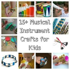15 Musical instrument craft ideas for kids @Misti K K K K McInteer