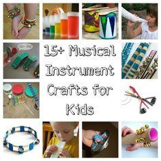15 Musical instrument craft ideas for kids @Misti K K McInteer