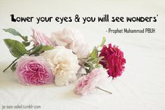 lower your gaze.