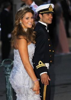 Princess Madeleine with her brother Prince Carl Philip of Sweden attend the official dinner on the Opera terraces in Monaco, 02 July 2011