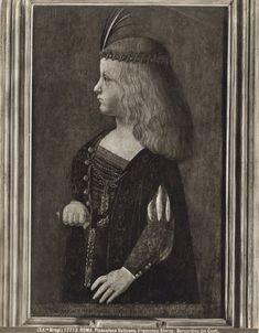 What's the chance of Noodle wearing this outfit? Bernardino de' Conti, Portrait of Francesco Sforza, 'il Duchetto'. Italian Renaissance Art, Renaissance Paintings, Renaissance Clothing, Renaissance Fashion, Modern History, European History, Landsknecht, Italian Painters, Medieval Times