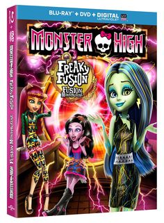 WIN 1 of 5 Monster High: Freaky Fusion Movies on Blu-Ray/DVD from SnyMed.com! Enter: http://www.snymed.com/2014/09/monster-high-freaky-fusion-comes-to-blu.html CAN/USA #contest