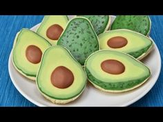 Here is my sweet cookie rendition of Avocado fruit. I made Avocado Cookies. In…