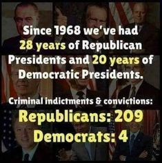 Both parties have their fare share of crime more than what has been discovered. People are hired to cover up most of it.