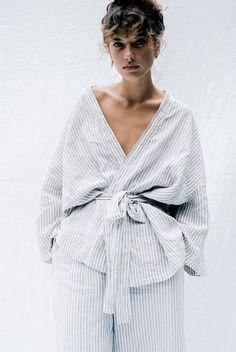 the 001 grey stripe loungewear set
