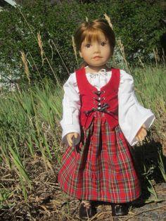 Celtic bodice pattern for dolls