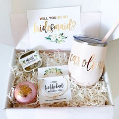 Amazon.com: wedding reception ideas Will You Be My Bridesmaid Gifts, Best Bridesmaid Gifts, Bridesmaid Gift Boxes, Asking Bridesmaids, Bridesmaid Proposal Gifts, How To Ask Your Bridesmaids, Baby Wedding, Gifts For Wedding Party, Wedding Favors