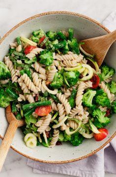 Broccoli Tahini Pasta Salad Recipe - Love and Lemons  GF and vegan