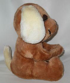 "Hound Dog Stuffed Plush 1977 Dakin 9"" Sleepy Brown Eyes Closed Puppy Animal #Dakin"