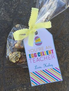 Easter teacher appreciation tags appreciation easter and teacher free printable easter teacher gift tags youre an eggcellent teacher negle Image collections