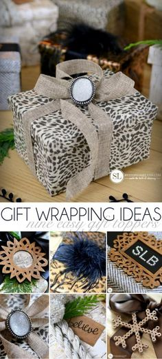 Gift Wrapping Ideas | nine easy gift toppers #michaelsmakers