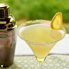 Lemon Drop and Vanilla Bean Martini