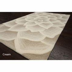 Handmade Bold Floral Wool Rug | Overstock.com