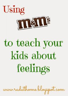 Living a RAD Life: M&Ms Feelings Activity