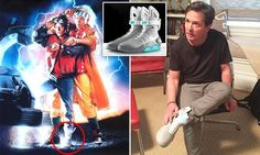 Great Scott! Back to the Future star Michael J. Fox models the FIRST pair of self-lacing Nike Mag sneakers inspired by the shoes his character wore in the 1989 film sequel The self-tying shoes were worn by the 54-year-old actor\'s character Marty McFly in Back to the Future II - which was set in 2015 Michael received a letter from Nike designer Tinker Hatfield on Wednesday that said he would be gifted the first \'living pair\' Nike confirmed that the shoes were in New York City on Wednesday…