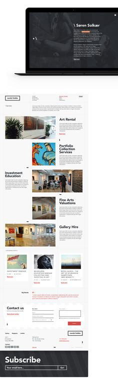 Design of the new identity & responsive website, and editorial content for NandaHobbs Sydney's contemporary art gallery.Agency : Pollen SydneyRole: Art direction - Branding identity - Digital design - Interaction design