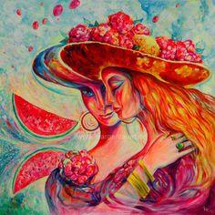 Original Acryl-Gemälde auf Leinwand. Leuchtende Effekte durch Akzente in Neon-Farben.  Ein Unikat. Seiten künstlerisch ummalt. Fertig zum Aufhän...