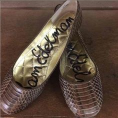 Sam Edelman flats Faux snakeskin flats by Sam Edelman. Good condition. Sam Edelman Shoes Flats & Loafers