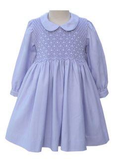 Easter Lavender Long Sleeve Smocked Dress for Girls – Carousel Wear