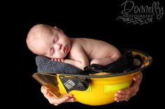 Newborn photography boy or girl dad or mom firefighter photography