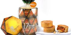 Packaging by Victor Design for TK Food's pineapple pastry.