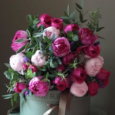 The Real Flower Company Scented Pink Garden and Herb Bouquet http://www.realflowers.co.uk/valentines-flowers-1/scented-pink-garden-rose-and-herb-bouquet.html