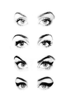 amywinehousedevotee:  Amy Winehouse winged eyeliner evolution (2003 - 2003 -2004 - 2006)
