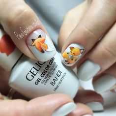 About Nails (MK, materials for nails) Nails PRO ™ in 2020 Animal Nail Designs, Animal Nail Art, Fall Nail Art Designs, Pretty Nail Designs, Cute Acrylic Nails, Cute Nails, Pretty Nails, Fox Nails, Crazy Nails