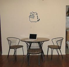 Wall Mural Vinyl Decal Sticker Design Interior Funny Cat With Pizza OS596