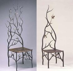 Such cool chairs. i want these so bad! i have a thing for trees and birds…